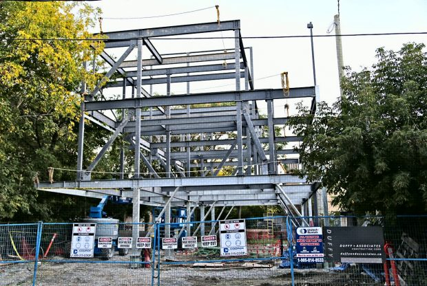 Project: Steel frame erected